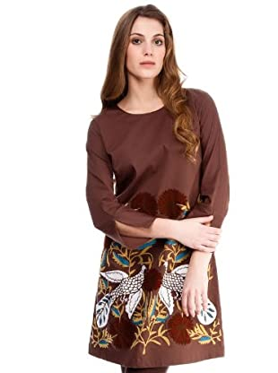 Almatrichi Vestido Daly (marrón)