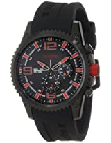 red line Men's RL-50031-BB-O1RD Boost Black Dial Black Silicone Watch
