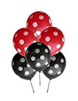 GrandShop 50224 Balloons Polka Dot Extra Large 12 Inch Red & Black (Pack of 25)
