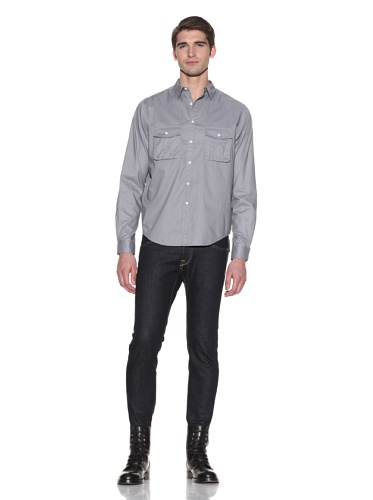 Johannes Faktotum Men's Workwear Shirt (Storm Grey)