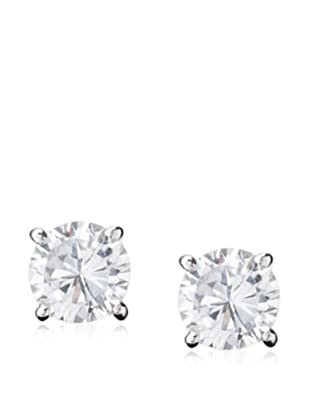 Jardin 1Cttw Round Cz Earrings Post 4Prong Classic