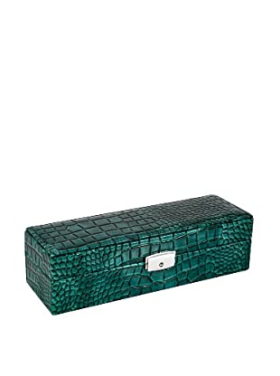 Wilouby 6-Watch Box, Green Croc