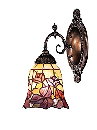 Artistic Lighting Mix-N-Match Tiffany LED Wall Sconce, Purple/Bronze