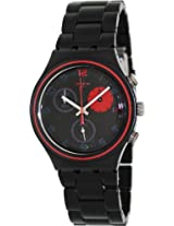 Swatch Chronograph Black Dial Men's Watch - YCB4020AG