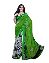 Pikasho Party Wear Cutpatch Saree 8001