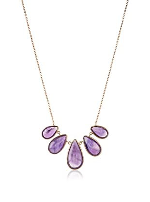 Argento Vivo Amethyst Teardrop Frontal Necklace