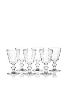 La Rochère Set of 6 Perigord Décor Footed Water Goblets