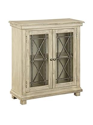 Coast to Coast 2-Door Cabinet, Ivory/Chocolate