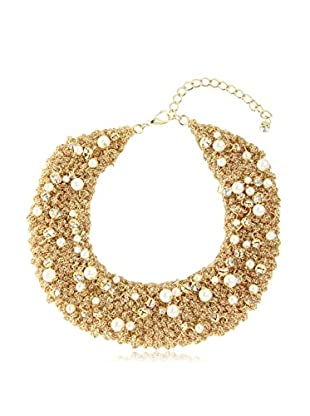 Saachi Gold-Tone Pearl Mesh Necklace