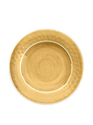 Color Wash Melamine Dinner Plate, Solid Gold