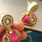 Multi Fabric Crystal Fashion Stud Earring