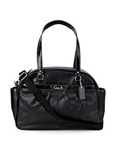 Coach Addison Leather Baby Bag Tote, Black