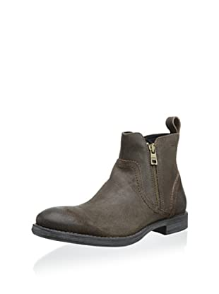 Andrew Marc Men's Parker Zip Ankle Boot (Wood Brown)