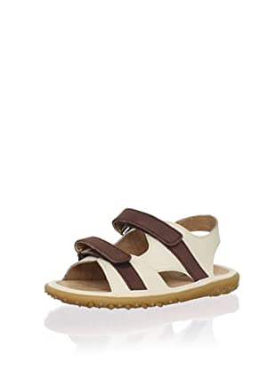 L'Amour Shoes Kid's Leather Sandal (Toddler/Little Kid) (Beige)