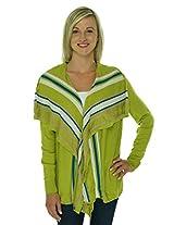 Anne Klein Women's Open Front Sweater, Pistanchio Multi, S