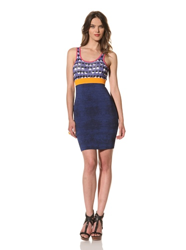 Cut25 Women's Techno Knit Zipper Dress (Multi)