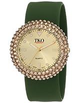 TKO ORLOGI Women's TK613TZ Crystal Green Slap Watch