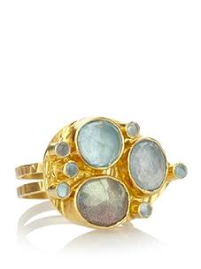 Robindira Unsworth Multi Capri Teardrop Ring, 6