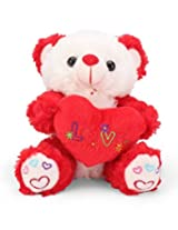 Tickles Red Cute I Love You Heart Teddy Stuffed Soft Plush Toy18 cm