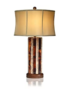 "Aqua Vista Neapolitan Table Lamp, 32.5"""