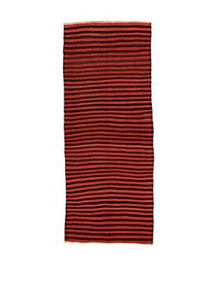 Design Community By Loomier Teppich Kilim Caucasico rot/schwarz 132 x 331 cm