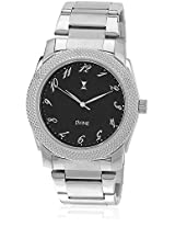 Ds 2115 Bk01 Silver/Black Analog Watch Dvine
