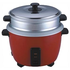 Pigeon Joy 1.8L Double Pot Unlimited SDX 220V / 50Hz AC 700-Watt Electric Rice Cooker (Red)