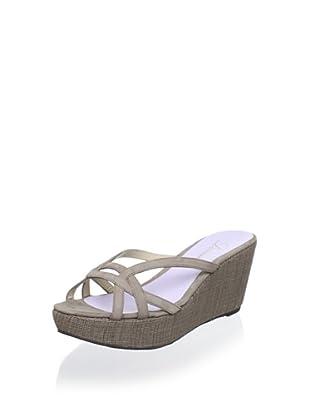 Delman Women's Chaya Platform Sandal (Taupe)