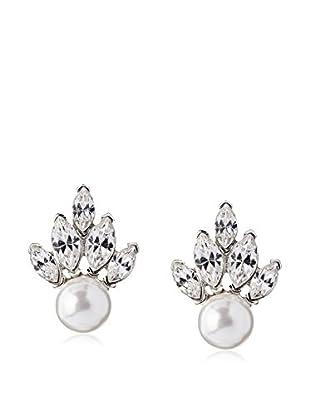 Kenneth Jay Lane White Fan Earrings