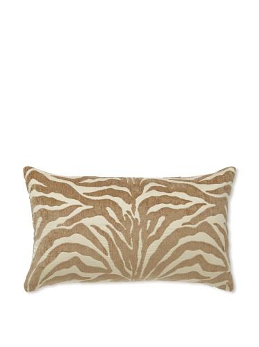 Elsa Blue Camel Zebra Knife Edge Indoor/Outdoor Pillow, 12