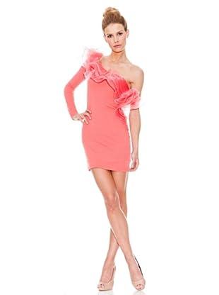 Rare Vestido Ruffle (Coral)