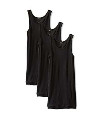 2(X)ist Men's Cotton Athletic Tank (Pack of 3) (Black)