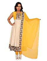 Sanskruti Creations Women Silk Cotton Salwar Suit Set (Sc-306-Yellow-M _Yellow _Medium)