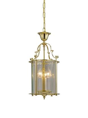 Gold Coast Lighting Solid Polished Brass Clear Beveled Lantern