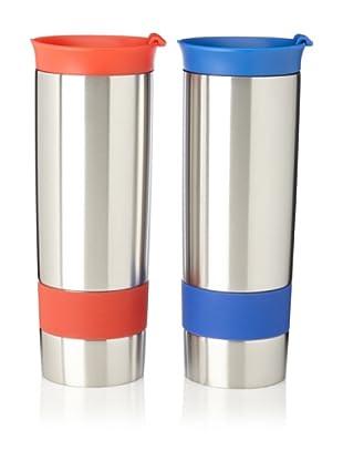 AdNArt Set of 2 The Hot Press Mugs (Red/Blue)