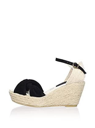 Cordani Women's Eliana Ankle Strap Espadrille (Black)