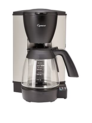 Capresso Programmable Coffeemaker with Glass Carafe (Stainless Steel/Black)