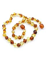 The Art of CureTM *SAFETY KNOTTED* Honey & Lemon - Certifed Baltic Amber Baby Teething Necklace - w/The Art of CureTM Jewelry Pouch