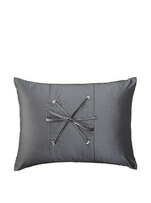 Belle Époque Rainfall Boudoir Pillow, Grey