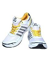 Livia545White Yellow Sport Shoes