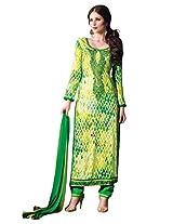 Lemon Yellow Colour Faux Cotton Semi Party Wear Patch Embroidery & Geometric Printed Pant Style Suit 796