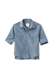 kicokids Boy's Classroom Shirt with Cropped Sleeves (Surf)