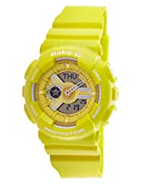 Casio Baby-G World time Analog-Digital Yellow Dial Children's Watch - BA-110BC-9ADR (BX025)