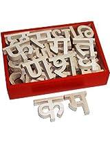 Hindi Alphabet Cutout Blocks (125 mm tall)
