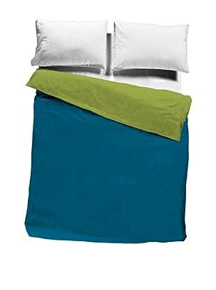 Pikolin Home Saco Nórdico 100% algodón (Azul / Verde)