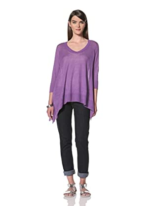 Acrobat Women's 3/4-Sleeve V-Neck Sweater (Orchid)