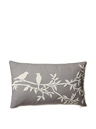 Zalva Carmine Decorative Pillow, Grey/Cream, 12