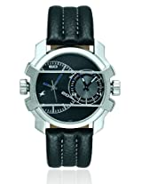 Fastrack Midnight Party Dual Time Analog Black Dial Men's Watch - 3098SL01