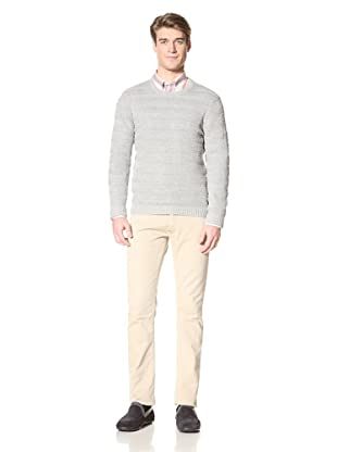 Ben Sherman Men's Ribbed Stripe Sweater (Flake Grey)