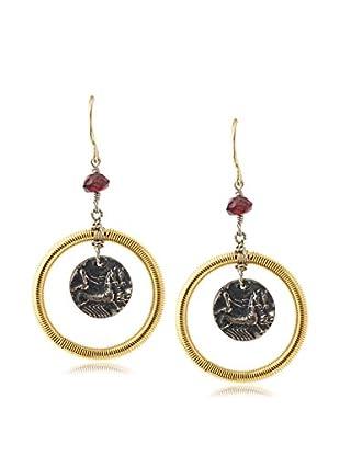 Linda Levinson Coin & Hoop Earrings